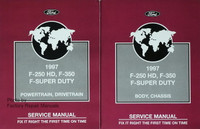 1997 ford f-250 hd f-350 f super duty service manual 1,