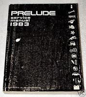 1983 HONDA PRELUDE Coupe Original Factory Dealer Shop Service Repair Manual Book