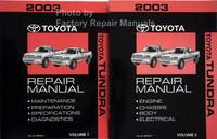2003 Toyota Tundra Repair Manual Volume 1, 2