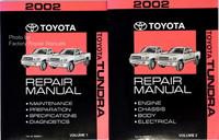 2002 Toyota Tundra Truck Factory Dealer Shop Service Repair Manual Set