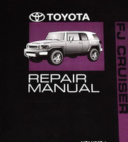 2011 Toyota FJ Cruiser Repair Manual Volume 1, 2, 3