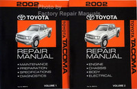 2002 Toyota Tacoma Repair Manual Volume 1, 2
