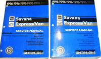 1996 GMC Savana Chevrolet Express Van Service Manual Volume 1, 2
