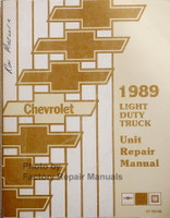 1989 Chevrolet Light Duty Truck Unit Repair Manual