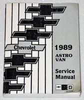 1989 Chevrolet Astro Van Factory Service Manual - Original Shop Repair