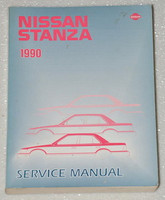 1990 NISSAN STANZA XE GXE Original Factory Dealer Shop Service Repair Manual 90