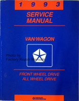 1993 Service Manual Van/Wagon Front Wheel Drive All Wheel Drive