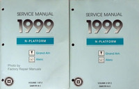 GM 1999 N Platform Grand Am Alero Service Manual Volume 1, 2