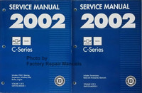 2002 Chevrolet GMC C-Series Service Manuals Volume 1 and 2