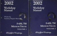 2002 Workshop Manual Ford F-650, 750 Medium Truck Volume 1, 2
