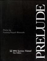 1994 Honda Prelude Factory Service Manual Original Shop Repair