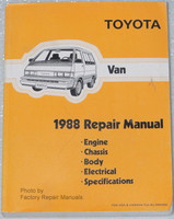 Toyota Van 1988 Repair Manual