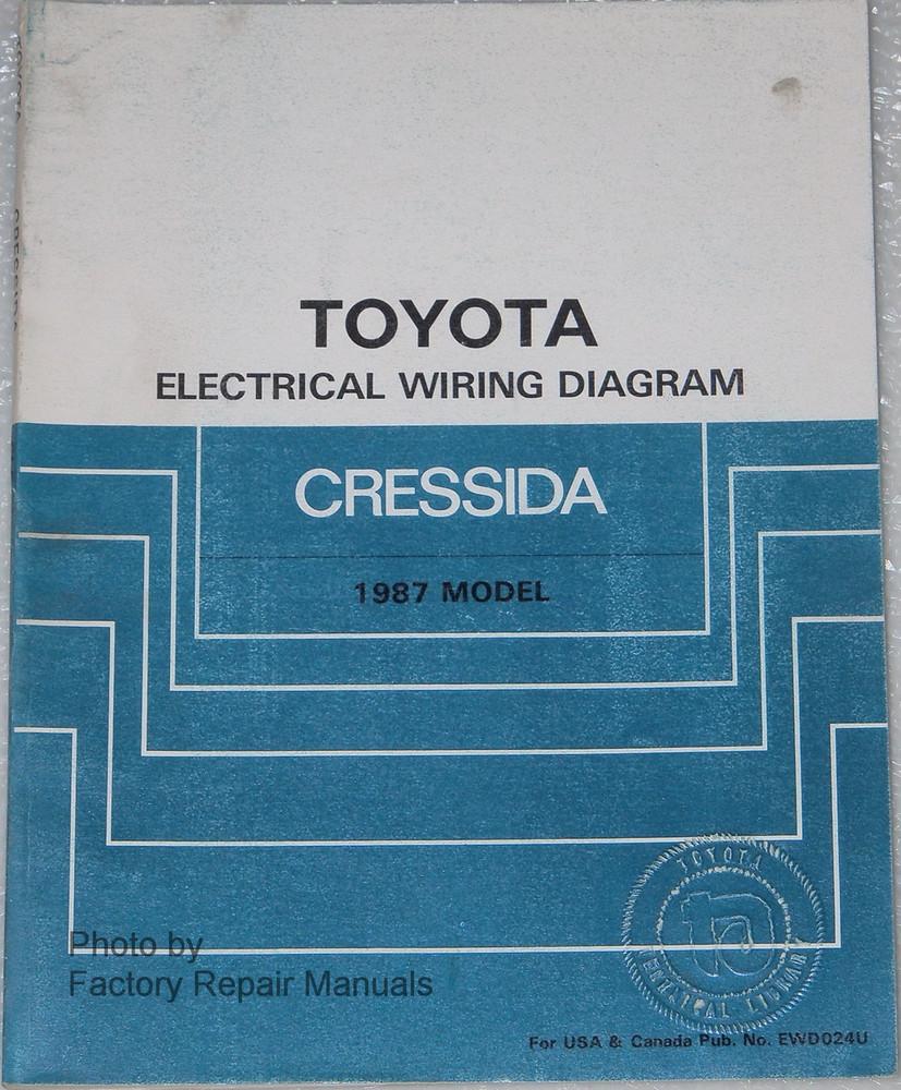 1987 Toyota Cressida Electrical Wiring Diagrams Original Manual Diagram Model