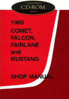 1965 Ford Mustang Falcon Fairlane Ranchero Mercury Comet Shop Service Manual CD