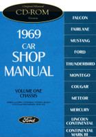 1969 Ford Lincoln Mercury Shop Manual CD