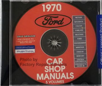 1970 Ford Car Shop Manual Volume 1, 2, 3, 4, 5 CD