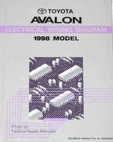1998 Toyota Avalon Electrical Wiring Diagrams Original Factory Manual