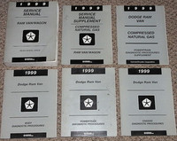 1999 Dodge Ram Van & Wagon Factory Service & Diagnostic Manuals