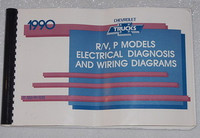 1990 Chevy R/V Pickup Truck G Van P30 Electrical Diagnosis & Wiring Diagrams Manual