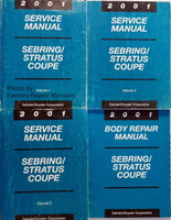 Service Manual Sebring/Stratus Coupe Volume 1, 2, 3 with Body Repair Manual