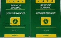1998 Service Manual Sebring/Avenger Volume 1 and 2