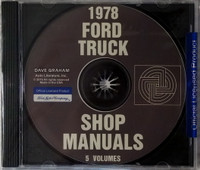 1978 Ford Truck Shop Manuals 5 Volume Set