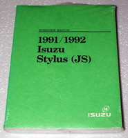 1991/1992 Isuzu Stylus (JS) Workshop Manual
