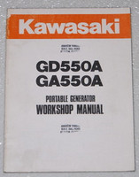 Kawasaki GD550A GA550A Generator Service Manual Original Shop Repair 99924-2019