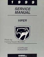 1999 Dodge Viper Factory Service Manual Original Shop Repair