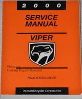 2000 Dodge Viper Factory Service Manual Original Shop Repair
