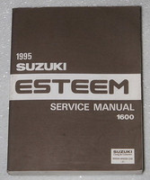 1995 SUZUKI ESTEEM 1600cc Service Manual GL GLS PLUS Factory Dealer Shop Repair