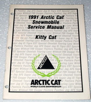 1991 ARCTIC CAT KITTY CAT SNOWMOBILE Service Manual Factory Dealer Shop Repair