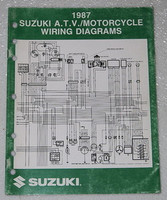 "1987 SUZUKI Motorcycle and ATV Electrical Wiring Diagrams Manual 87 ""H"" Models"