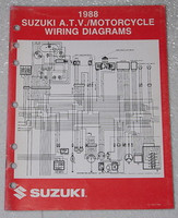 "1988 SUZUKI Motorcycle and ATV Electrical Wiring Diagrams Manual 88 ""J"" Models"