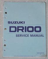 1983 1990 SUZUKI DR100 SP100 Service Manual 84 85 86 87 88 1989 SP DR 100 Repair