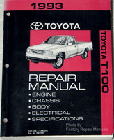 1993 Toyota T100 Repair Manual Engine Chassis Body Electrical Specifications