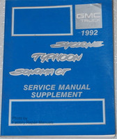 1992 GMC Syclone Typhoon Sonoma GT Shop Service Manual Supplement