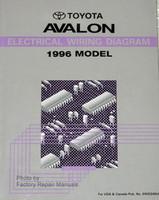 1996 Toyota Avalon Electrical Wiring Diagrams Original Factory Manual