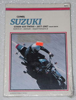1977 1987 SUZUKI GS 400 425 450 Twins Clymer Repair Manual GS400 GS425 GS450 NEW
