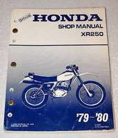 1979 1980 HONDA XR250 Service Manual XR 250 Motorcycle Factory Shop Repair Book