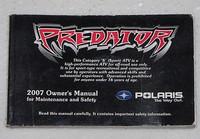 2007 POLARIS PREDATOR 500 Owners Manual ATV Quad Original Dealer Book 9920779