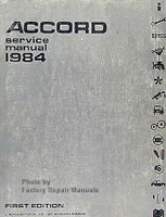 Accord Service Manual 1984