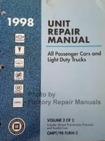 1998 GM Unit Repair Manual Manual Transmission/Transaxle and Transfer Case