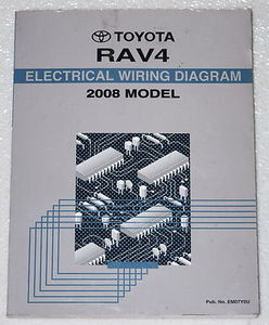 2008 toyota rav4 electrical wiring diagrams original factory manual   image 1