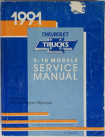1991 Chevrolet S-10 Models Service Manual