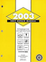 2003 GM Car & Truck Transmission, Transaxle & Transfer Case Unit Repair Shop Manual Set