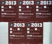 GM 2013 Cadillac Escalade GMC Yukon Chevrolet Avalanche/Suburban/Tahoe CK/TRK Service Manual Volume 1, 2, 3, 4, 5