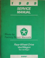 1989 Service Manual Rear Wheel Drive Van/Wagon Ram Van/Wagon