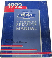 1992 Chevrolet Trucks S-10 Models Service Manual