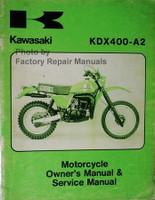 Kawasaki KDX400-A2 Owner's Manual & Service Manual